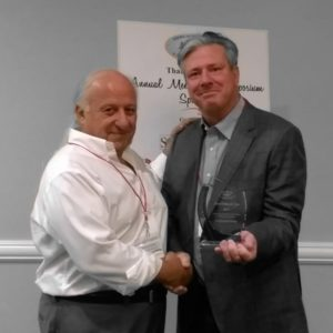 Rich Difede Accepting award from ABBRA President, Ron Helbig